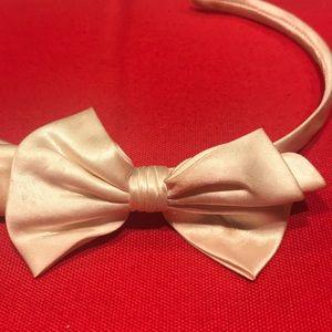 Beige Bow Headband